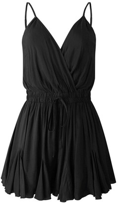 Goodnight Macaroon 'Jolina' V Neck Wrap Front Tied Waist Strap Romper (3 Colors)
