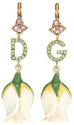 Dolce & Gabbana embellished tulip earrings