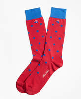 Brooks Brothers Polka Dot Crew Socks