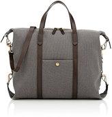 Mismo Men's Leather-Trimmed Tote Bag-Grey