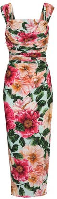 Dolce & Gabbana Floral stretch-jersey midi dress