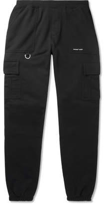 Off-White Off White Logo-Print Cotton-Jersey Cargo Sweatpants