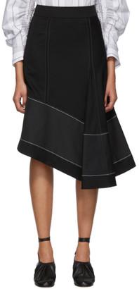 3.1 Phillip Lim Black Merino Series High Rise Skirt