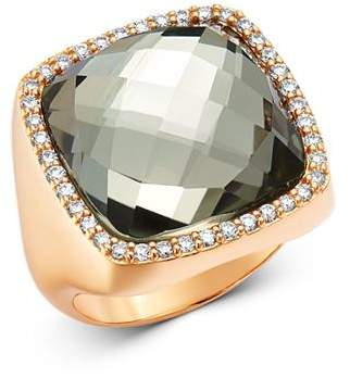 Roberto Coin 18K Rose Gold Prasiolite Doublet Cocktail Ring with Diamonds