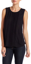 Daniel Rainn Sleeveless Crochet Front Blouse