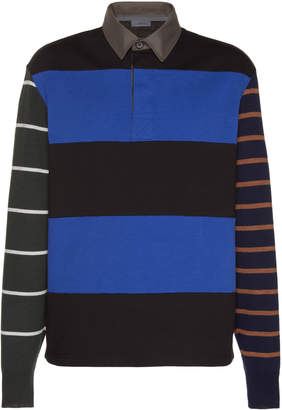 Lanvin Striped Cotton Rugby Shirt