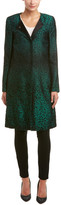 Escada Silk & Wool-Blend Coat