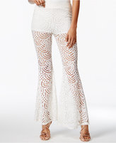 Material Girl Juniors' Lace Flare-Leg Pants, Created for Macy's