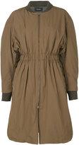 Isabel Marant elastic waist coat - women - Polyester/Cupro - 38