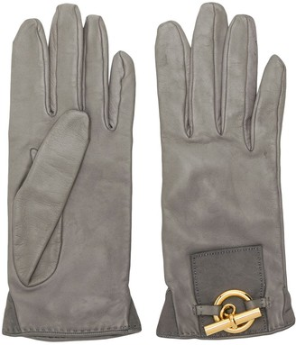 Hermes 1990's Pre-Owned Gold-Tone Detail Gloves