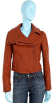 Leather Moto Jacket- Red Rock