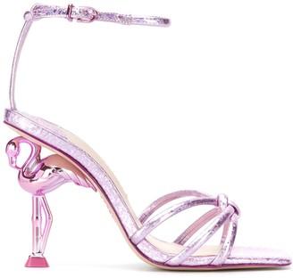 Sophia Webster Flamingo Heel Sandals