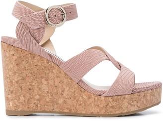 Jimmy Choo Aleili 100 wedge sandals