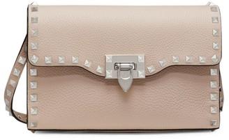 Valentino Small Rockstud Leather Crossbody Bag