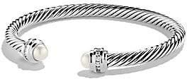 David Yurman Women's Cable Classics Bracelet with Pearls and Diamonds