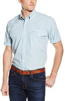 Cinch Men's Classic Fit Short Sleeve Two Flap Pocket Plaid Shirt
