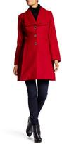 Jessica Simpson Fit & Flare Wool Blend Coat