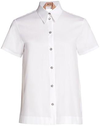 No.21 Layered Open-Back Shirt