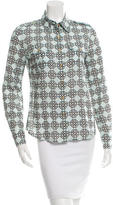 Tory Burch Printed Long Sleeve Button-Up