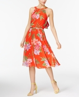 INC International Concepts Petite Floral-Print Halter Dress, Created for Macy's