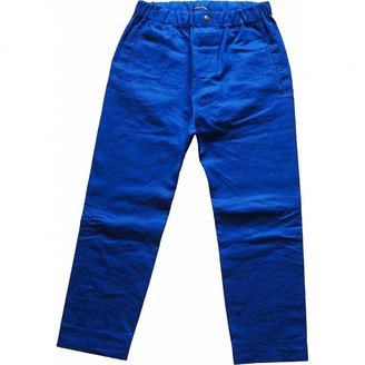Sofie D'hoore Sofie Dhoore Blue Cotton Trousers for Women