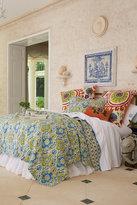 Soft Surroundings Ravello Quilt - Blue/green Ikat