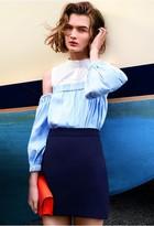 Milly Italian Cady Modern Mini Skirt