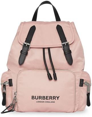 Burberry The Medium Rucksack in Logo Print Nylon