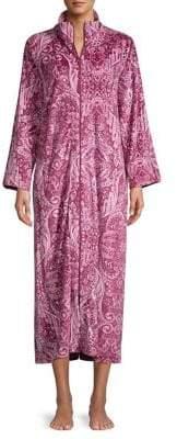 Miss Elaine Petie Printed Full-Zip Robe