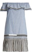 Lemlem Amara off-the-shoulder striped dress