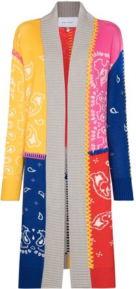 Mira Mikati Panelled Intarsia-Knit Cardigan
