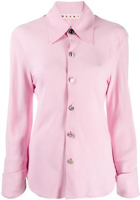 Marni stitch detail collared shirt