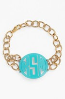 Moon and Lola Women's 'Annabel' Medium Personalized Monogram Bracelet