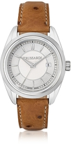 Trussardi Lady Stainlees Steel w/Ostrich Leather Strap Women's Watch