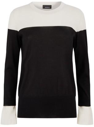 Akris Cashmere Two-Tone Sweater