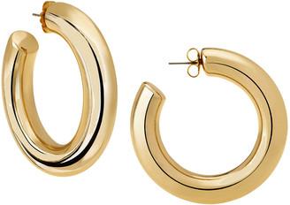 Janis Savitt Oprah's Favorite High Polish Large Hoop Earrings - Yellow Gold