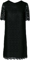 Moschino English embroidery shift dress - women - Polyester/Acetate/Viscose - 40