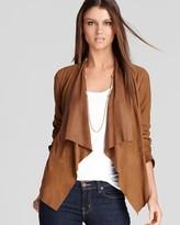 MICHAEL Michael Kors Drape Front Leather Jacket
