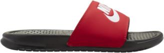 Nike Benassi JDI Slide Shoes - Black / White Red
