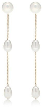 Sophie Buhai Exclusive to Mytheresa a Small Pearl Drop 18kt gold-plated sterling silver earrings