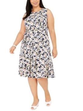 Charter Club Plus Size Sleeveless Midi Dress, Created for Macy's