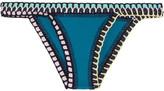 Kiini Flor Crochet-trimmed Bikini Briefs - Emerald