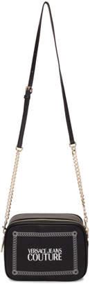 Versace Black Stamped Logo Camera Bag