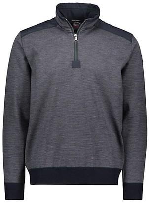 Paul & Shark Quarter-Zip Piping Sweater