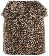 Topshop Leopard print ruffle mini skirt