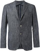 Tagliatore Monte Carlo button blazer - men - Cotton/Linen/Flax/Acrylic/Cupro - 48