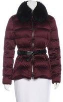 Burberry Fur-Trimmed Puffer Coat
