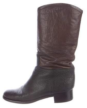 Chanel Colorblock Mid-Calf Boots
