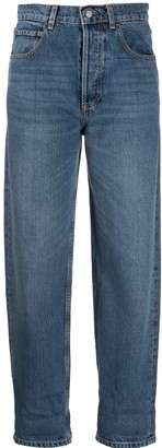 Boyish High-Waisted Tapered Jeans