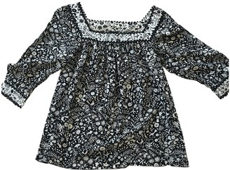 Anna Sui Black Silk Top for Women